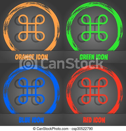 Keyboard Maestro icon. Fashionable modern style. In the orange, green, blue, red design. Vector - csp30522790