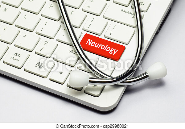 Keyboard, Neurology text and Stethoscope - csp29980021