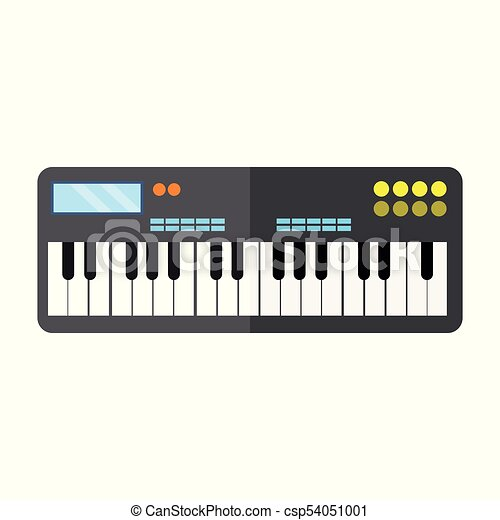 Keyboard Piano Instrument Vector Illustration Graphic