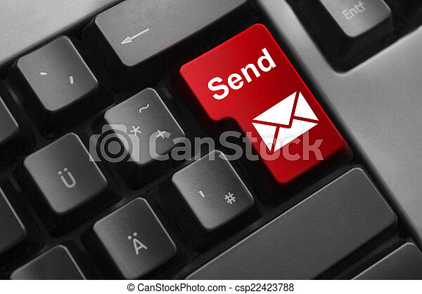keyboard red button send mail - csp22423788