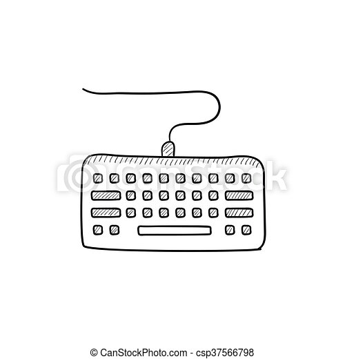 Keyboard Sketch Icon Keyboard Vector Sketch Icon Isolated On Background Hand Drawn Keyboard Icon Keyboard Sketch Icon For