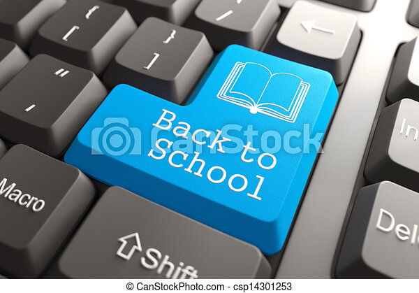 """Keyboard with """"Back to School"""" Button. - csp14301253"""