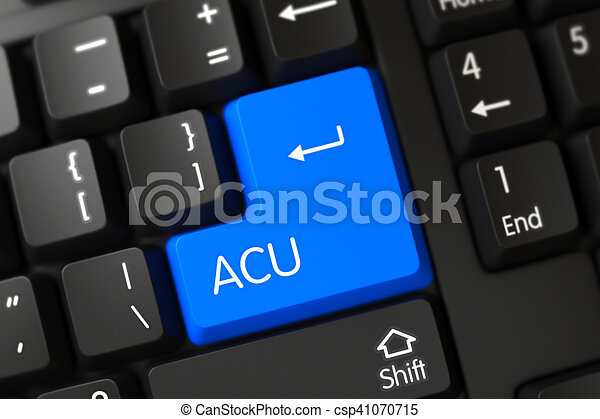 Keyboard with Blue Button - Acu. 3D. - csp41070715