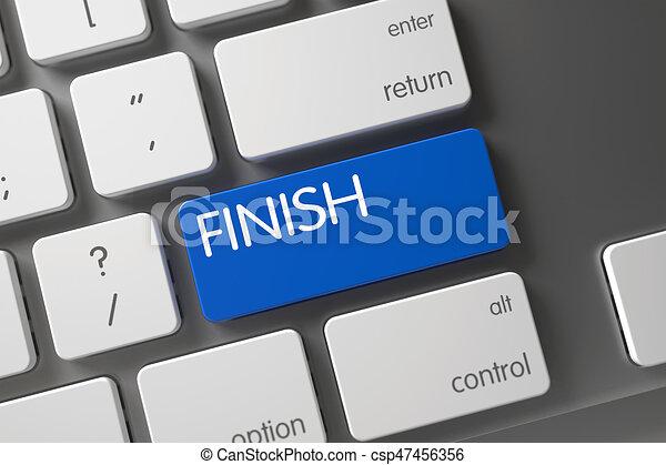 Keyboard with Blue Keypad - Finish. 3D. - csp47456356