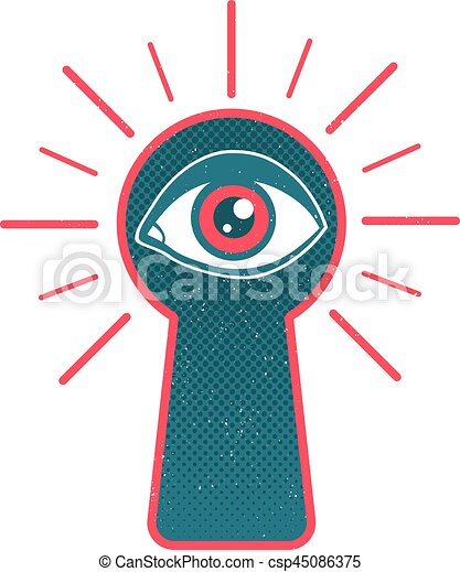 keyhole and eye vintage vector illustration of a keyhole and eye rh canstockphoto co uk