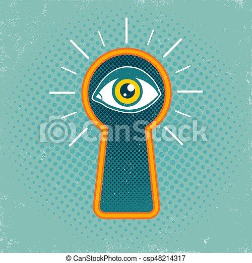 keyhole and eye - csp48214317