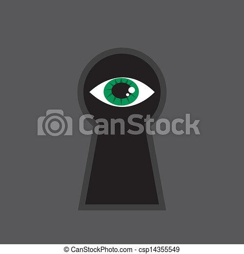 Keyhole Eye  - csp14355549