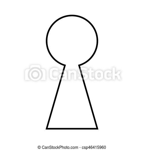 keyhole silhouette outline vector symbol icon design clip art rh canstockphoto com Keyhole Drawing Lock Clip Art