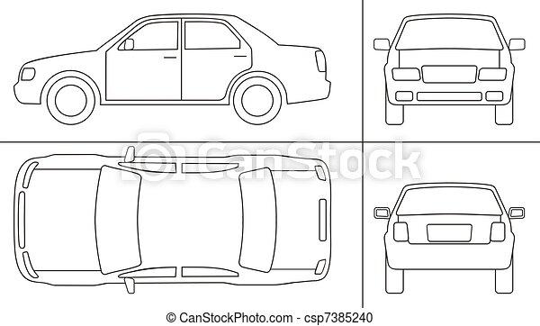 keyline, autó - csp7385240