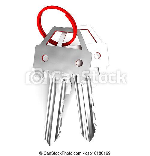 Keys Mean Unlocking Car Or Automobile  - csp16180169