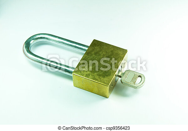 Keys on a white background - csp9356423
