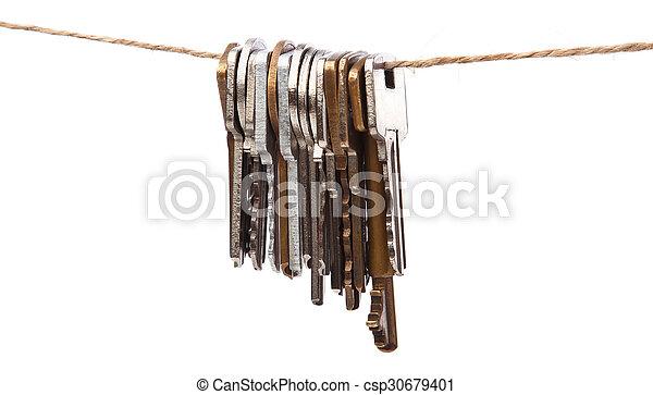 Keys on the thread - csp30679401