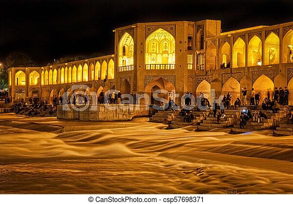 Khaju Bridge Isfahan - csp57698371