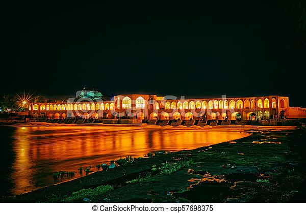 Khaju Bridge Isfahan - csp57698375