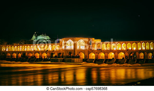 Khaju Bridge Isfahan - csp57698368