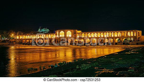 Khaju Bridge Isfahan - csp72531253