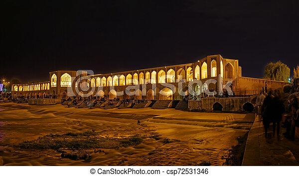 Khaju Bridge Isfahan - csp72531346
