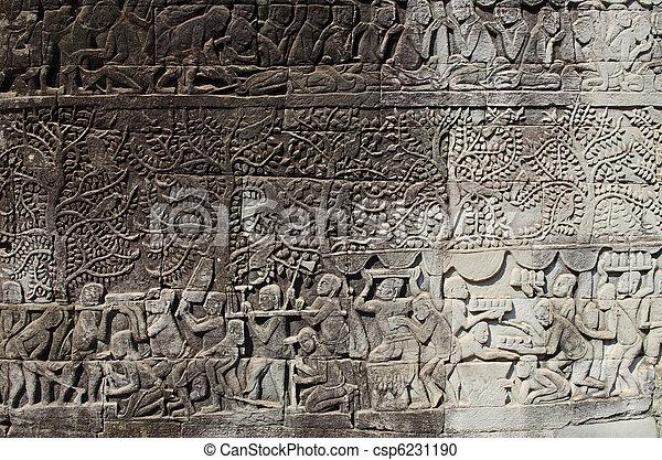 Khmer stone carvings angkor wat cambodia khmer stone carvings in