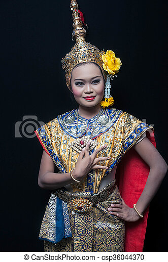 """khon"", 藝術, 跳舞, 跳舞, 曼谷, 高, 泰國, siam, 類別 - csp36044370"