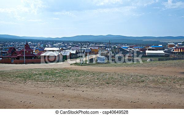 Khuzhir settlement. - csp40649528