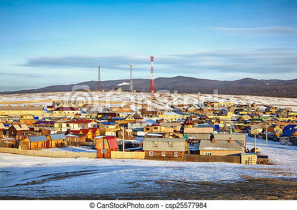Khuzhir village near Baikal lake - csp25577984