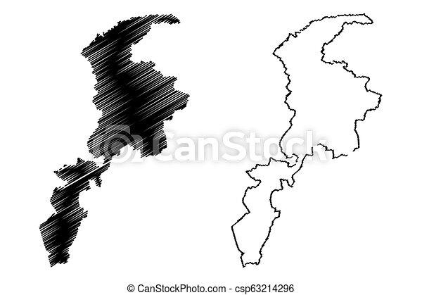 Khyber Pakhtunkhwa map - csp63214296