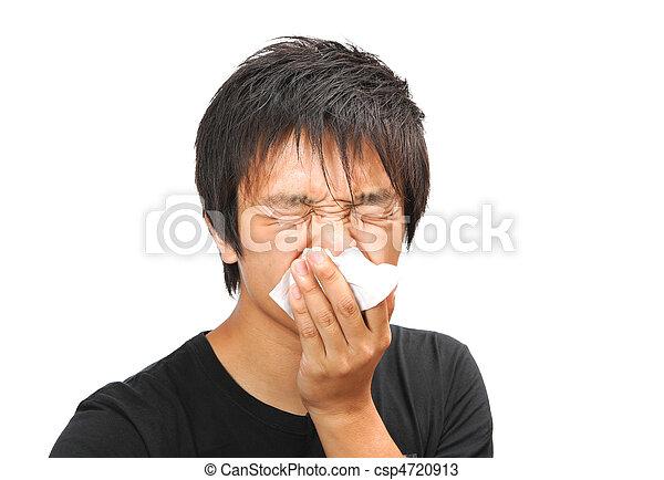 kichnięcie, człowiek - csp4720913