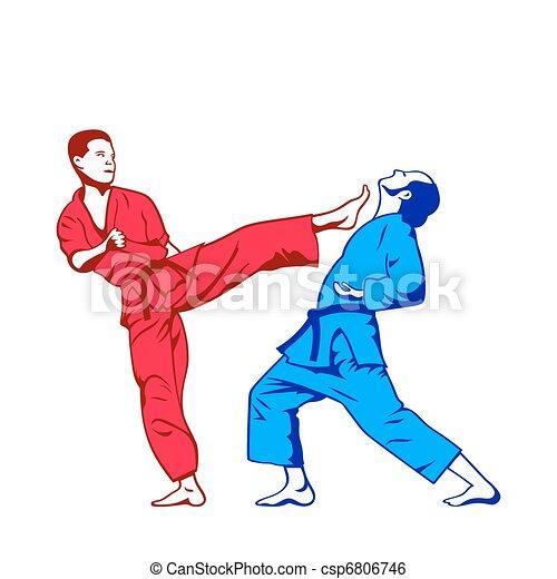 kick and defense - csp6806746