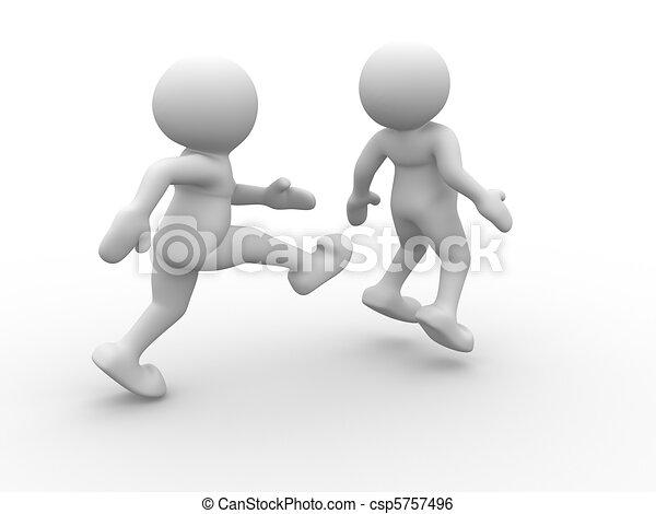Kicking behind - csp5757496