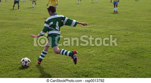 kicking the ball - csp0013792
