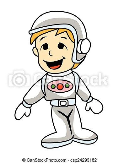 kid astronaut  - csp24293182