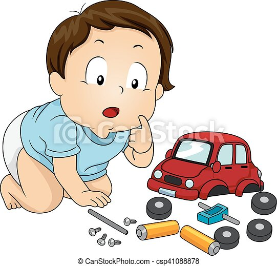 Kid Baby Boy Car Toy Parts Illustration Of A Baby Boy Looking