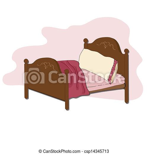 Kid Bed Illustration In Vector Format
