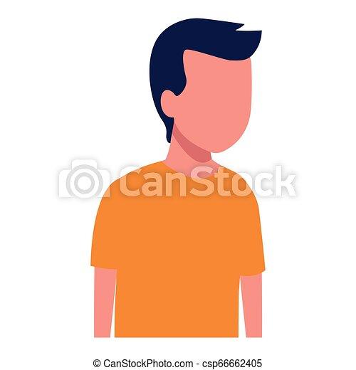 Kid boy avatar cartoon - csp66662405