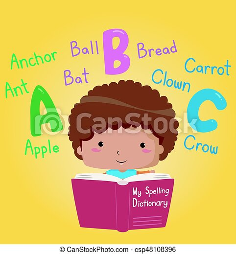 Kid Boy Book My Spelling Dictionary