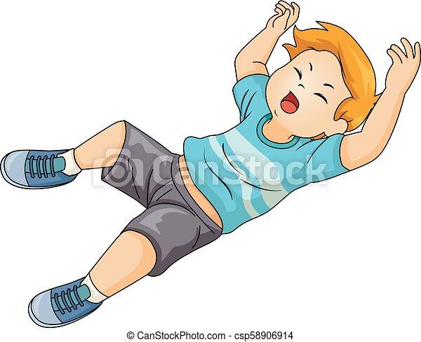 kid boy fall illustration illustration of a kid boy