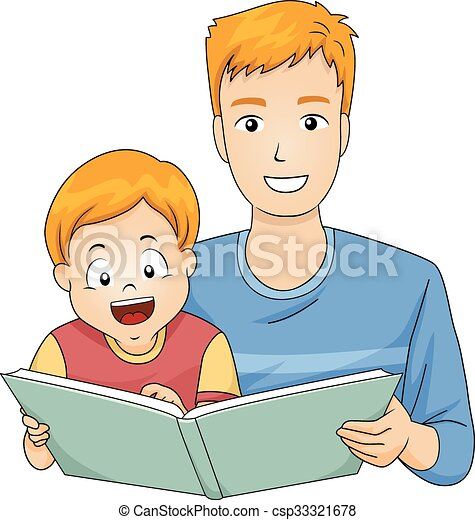 Kid Boy Father Read Story Book 33321678 on Whimsical Tree Clip Art Free