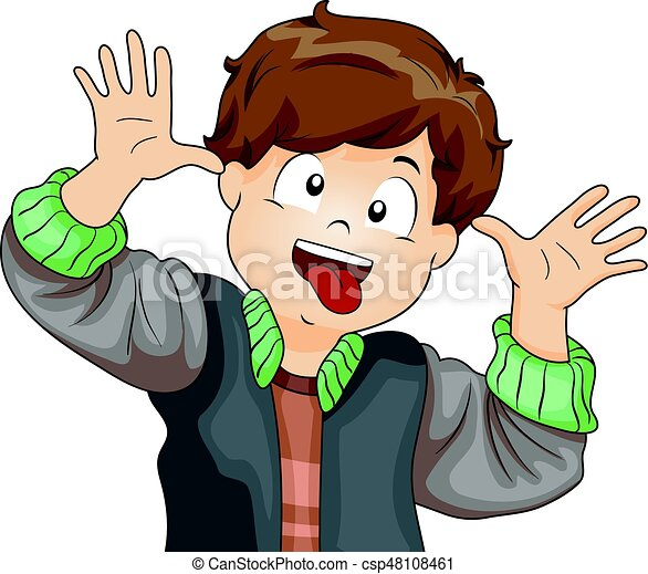 kid boy making crazy face illustration featuring a little clip rh canstockphoto co nz making clipart transparent making clip art transparent background