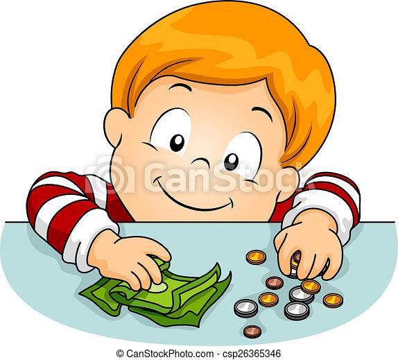 kid boy money table illustration of a boy laying money on Bake Sale Illustration Wallpaper Bake Sale Illustration Wallpaper