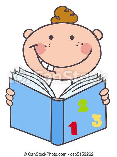 Kid Boy Reading A Book - csp5153262