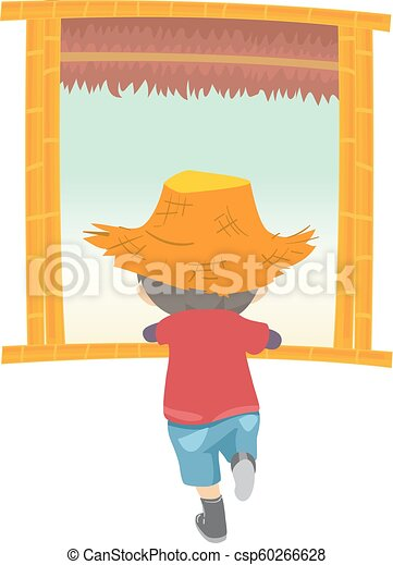 Kid boy window farm illustration. Illustration of a kid boy wearing ... 71f11e7046c3
