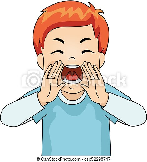 Kid Boy Yelling Angry Illustration Of A Young Male Redhead Yelling In Anger At The Top Of His Lungs