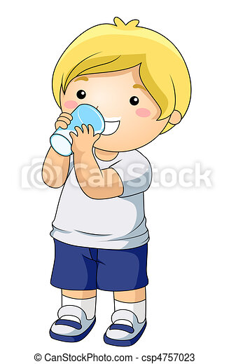 kid drinking milk. a young boy drinking a glass of milk drawings