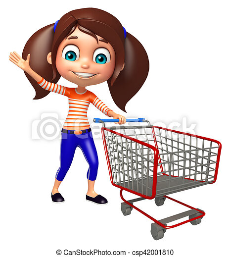 kid girl with trolley clipart search illustration drawings and rh canstockphoto com shopping trolley clipart shopping trolley clipart free