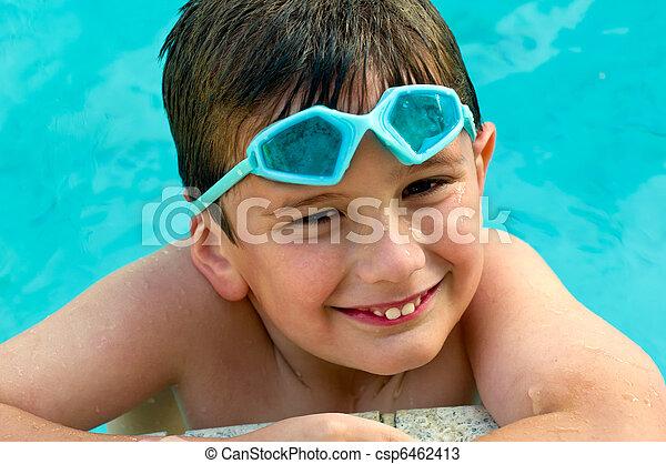 Kid happy in summertime - csp6462413