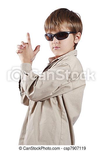 338e435059a1 Kid in glasses looks like spy. Kid in black glasses and shirt looks ...