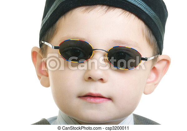 7f4d89a395e9 Kid in sunglasses Stock Photo   csp3200011