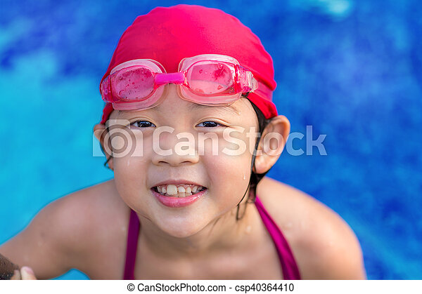 Kid in Swimming Pool - csp40364410