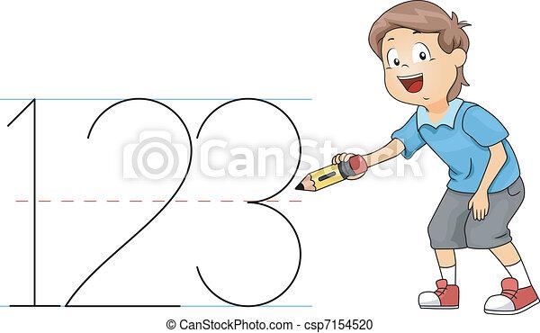 Kid Numbers - csp7154520