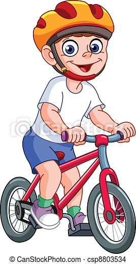 Kid on bicycle - csp8803534
